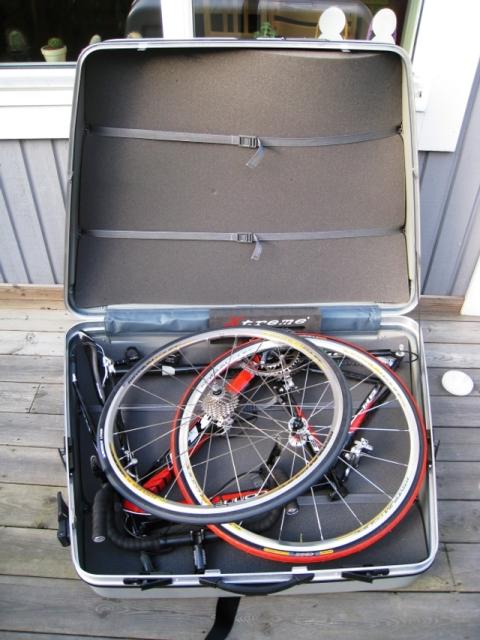 Nedpackad cykel