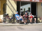 En kall öl på en av cykelrundorna under veckan på Mallis