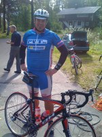 En halvfet räsercyklist i sina bästa år.